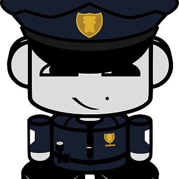 HERO'BOT Officer Longwei Yi by carbonfibreme