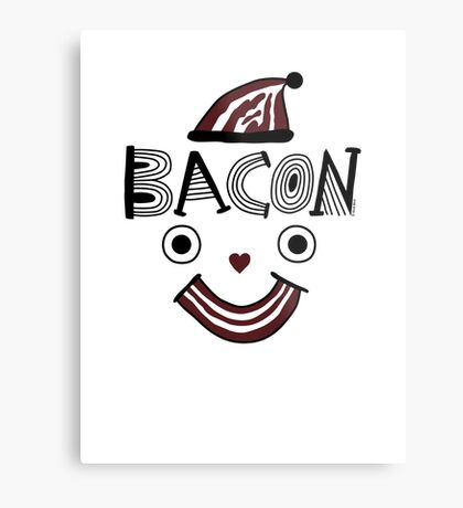 Bacon Face Metal Print