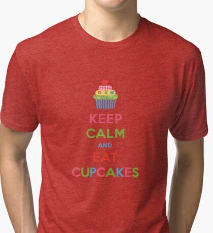 Keep Calm and Eat Cupcakes 5  Tri-blend T-Shirt