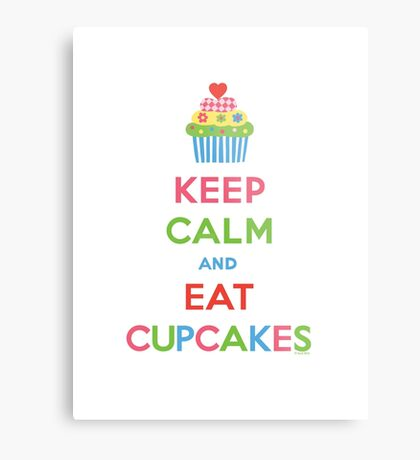 Keep Calm and Eat Cupcakes 5  Metal Print
