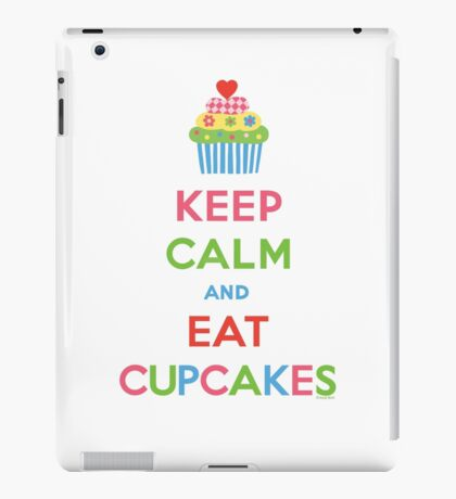 Keep Calm and Eat Cupcakes 5  iPad Case/Skin