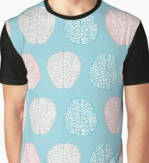 Brainy Pastel Pattern (Awesome Pastel Brains) Graphic T-Shirt