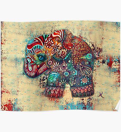 Vintage Elephant Poster