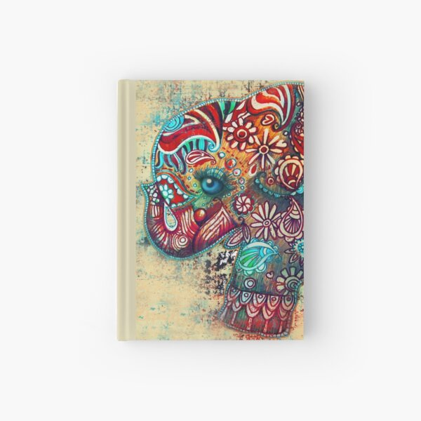 Vintage Elephant Hardcover Journal