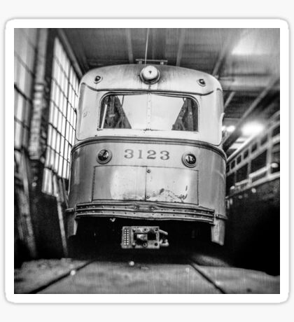 Vintage Streetcar Trolley 1219 Sticker
