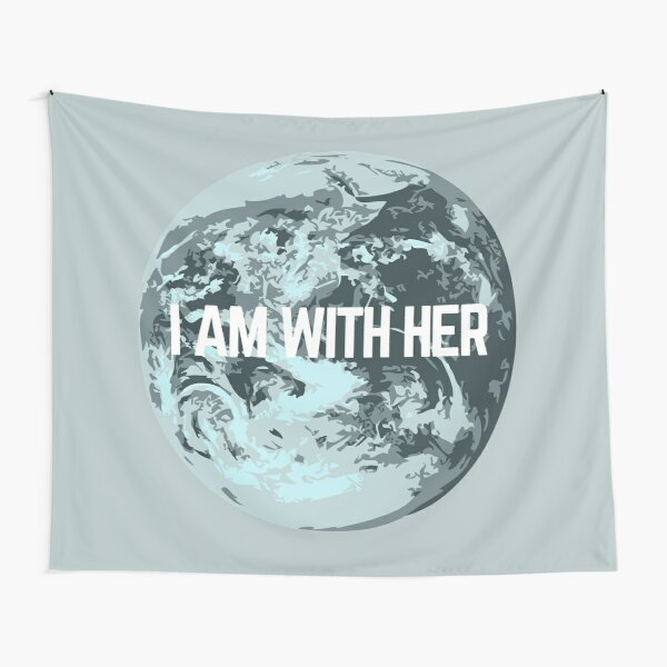 I AM WITH HER Tapestry