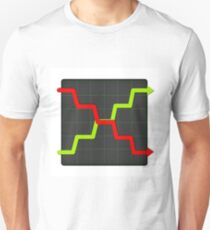Icon Statistic Up And Down Unisex T-Shirt