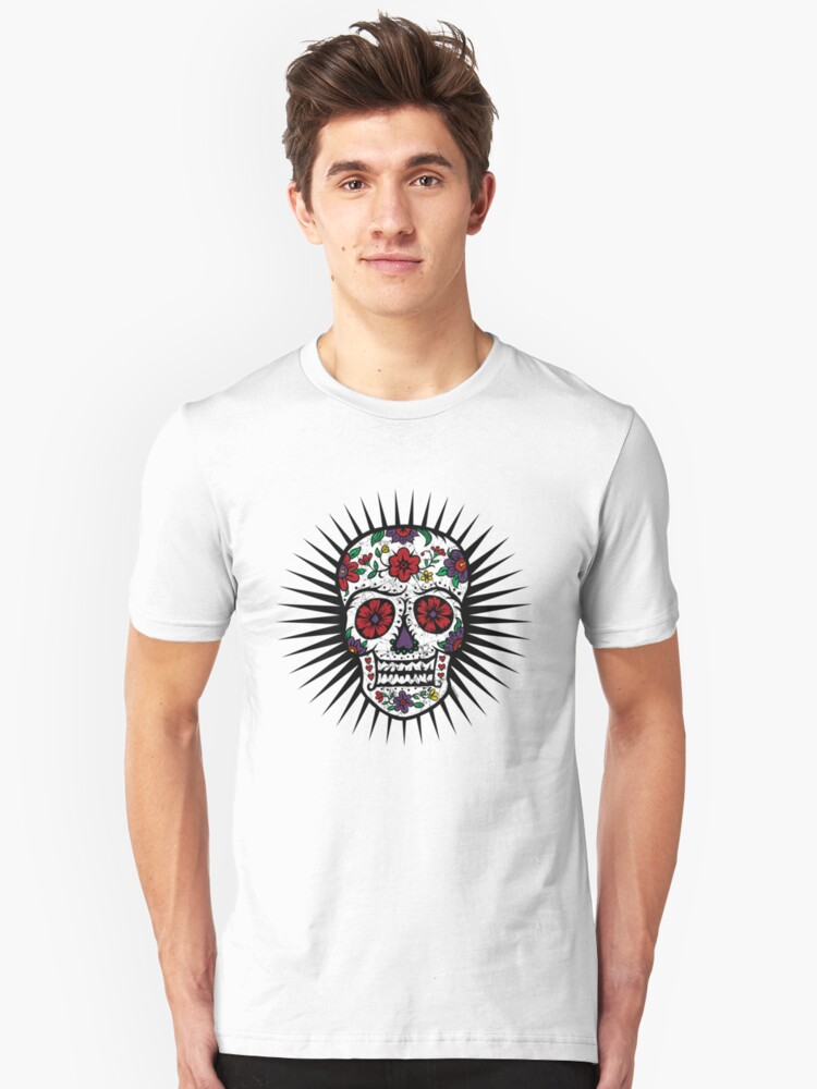 Sugar Skull two Unisex T-Shirt Front