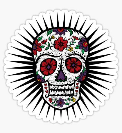 Sugar Skull two Sticker