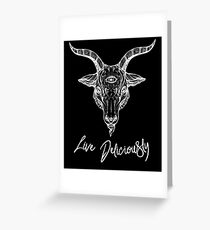 Black Phillip the Goat - Live Deliciously Greeting Card