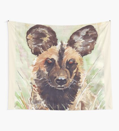 African Wild Dog Wall Tapestry