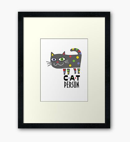 Cat Person Framed Print