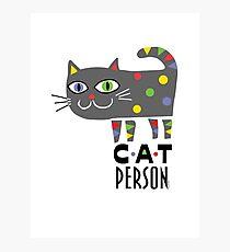 Cat Person Photographic Print