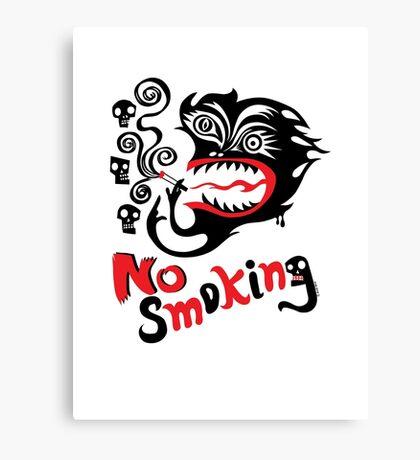 No Smoking - monster Canvas Print