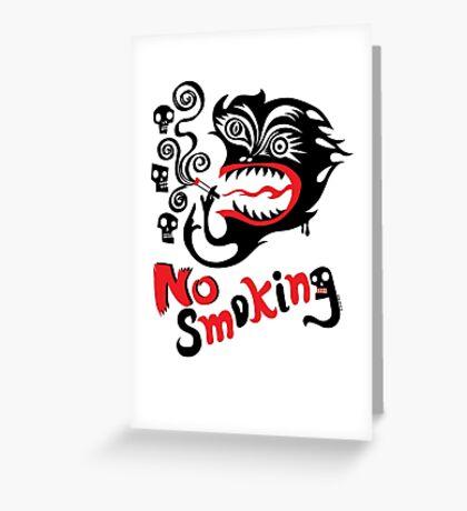No Smoking - monster Greeting Card