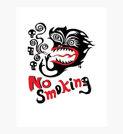 No Smoking - monster Photographic Print
