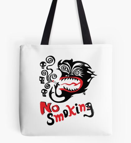 No Smoking - monster Tote Bag