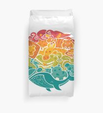 Animal Rainbow Duvet Cover