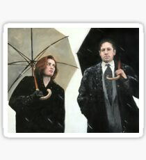 X Files Mulder & Scully Painting (most products) Sticker