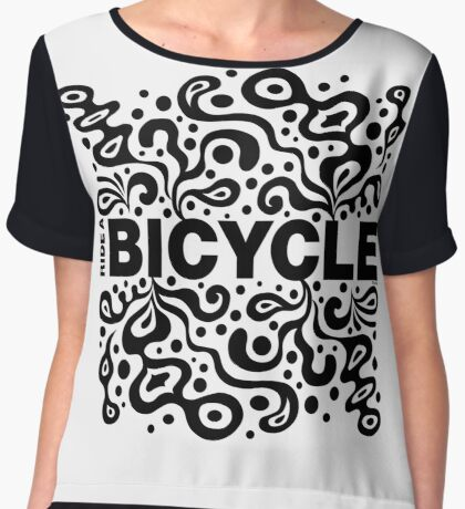 Ride a Bicycle - funky Women's Chiffon Top