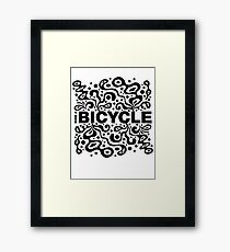 Ride a Bicycle - funky Framed Print
