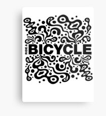 Ride a Bicycle - funky Metal Print
