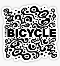 Ride a Bicycle - funky Sticker
