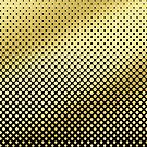 Polka Dots Gold Glitter Black Modern by Beverly Claire Kaiya