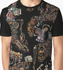 Robots Building Tunnels World of Stuff Graphic T-Shirt
