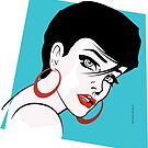 Pop Art Beautiful Comic Style Connie by Frank Schuster