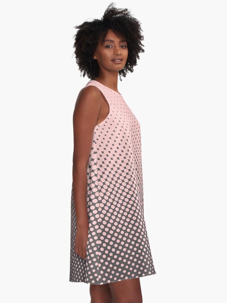 Alternate view of Polka Dots Millennial Pink Opal Grey Trendy A-Line Dress
