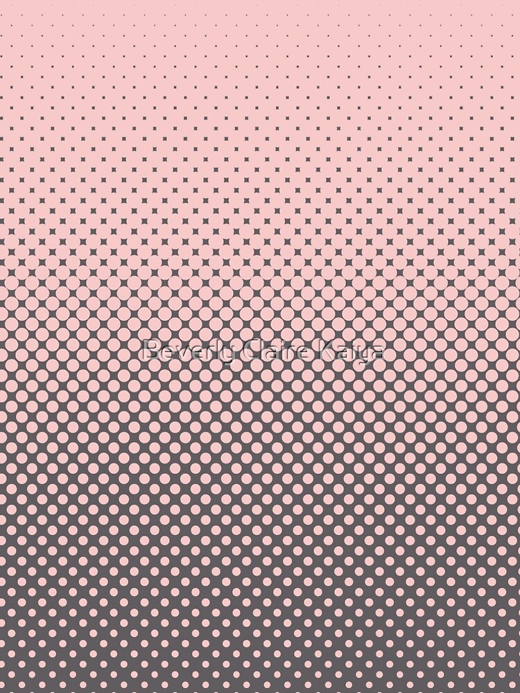 Polka Dots Millennial Pink Opal Grey Trendy by beverlyclaire