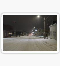 Snow storm on main street Sticker