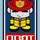 Firefighter HERO'BOT Toy Robot 1.1 by Carbon-Fibre Media