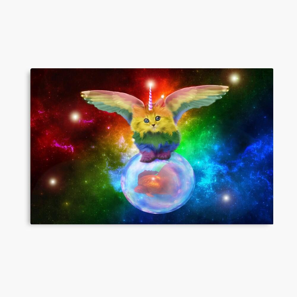 Rainbow Mewnicorn en Spacez Lienzo