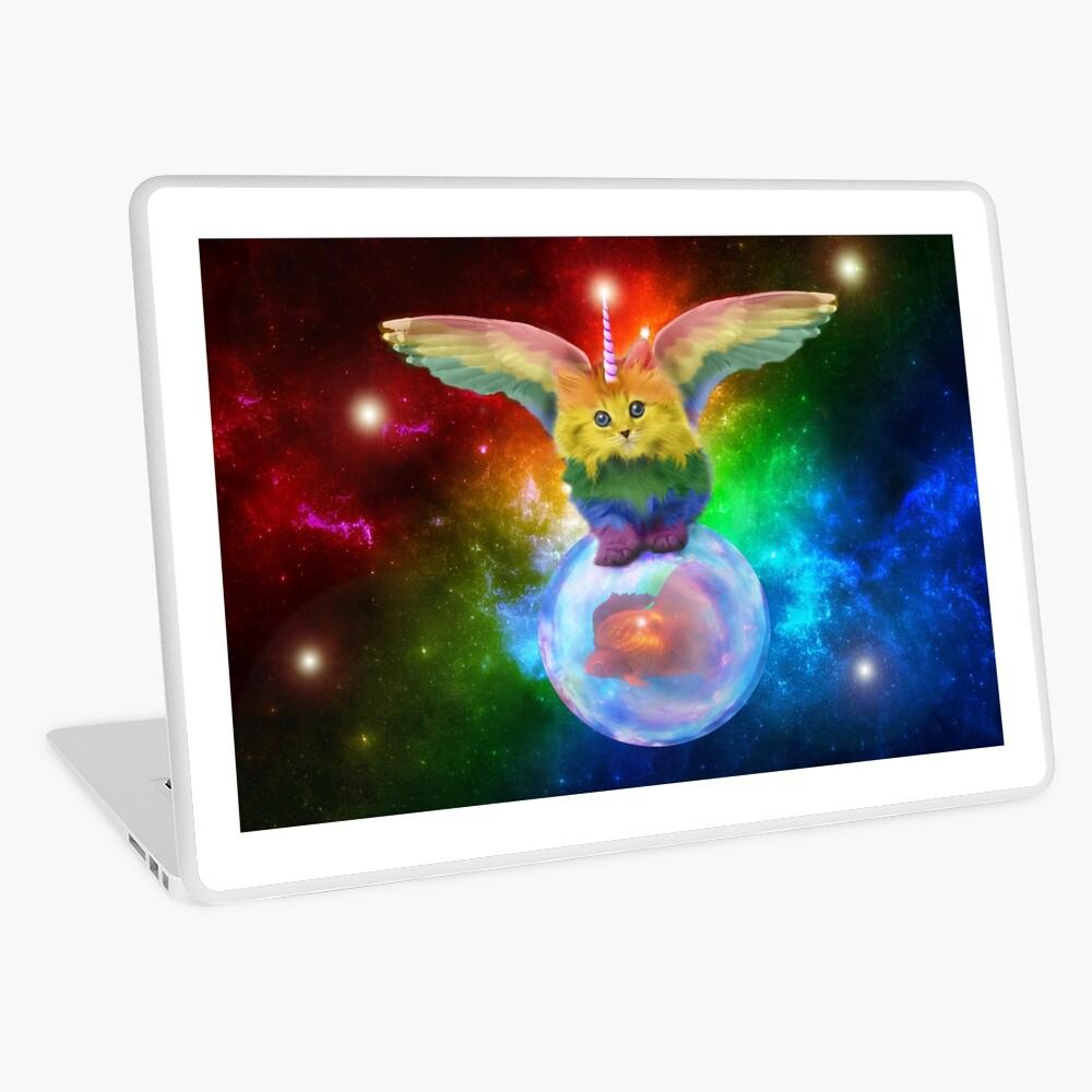 Rainbow Mewnicorn en Spacez Vinilo para portátil