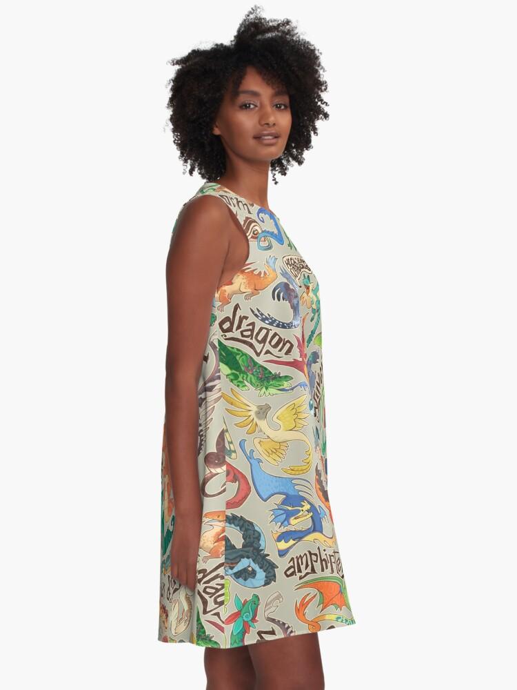 Alternate view of Mini dragon compendium  A-Line Dress