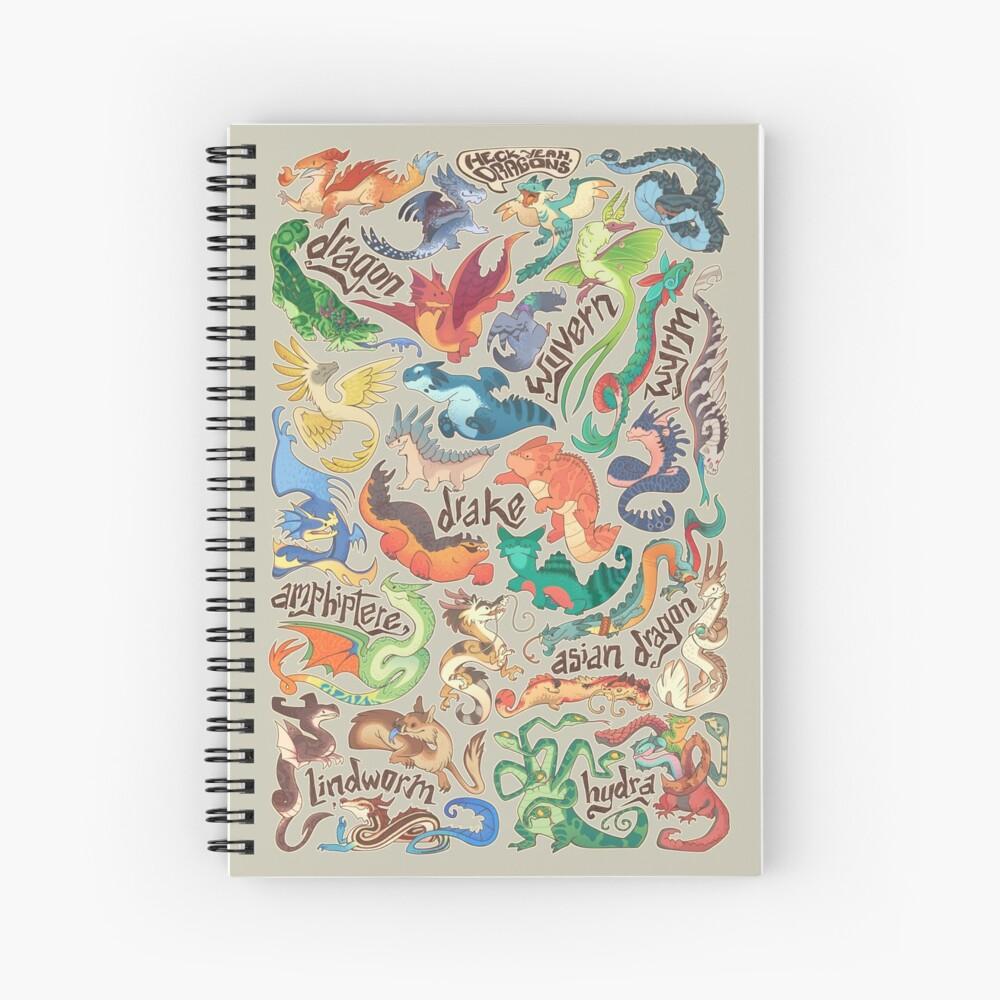 Mini dragon compendium  Spiral Notebook