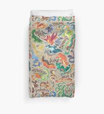 Mini dragon compendium  Duvet Cover