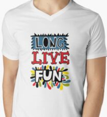 Long Live Fun Mens V-Neck T-Shirt