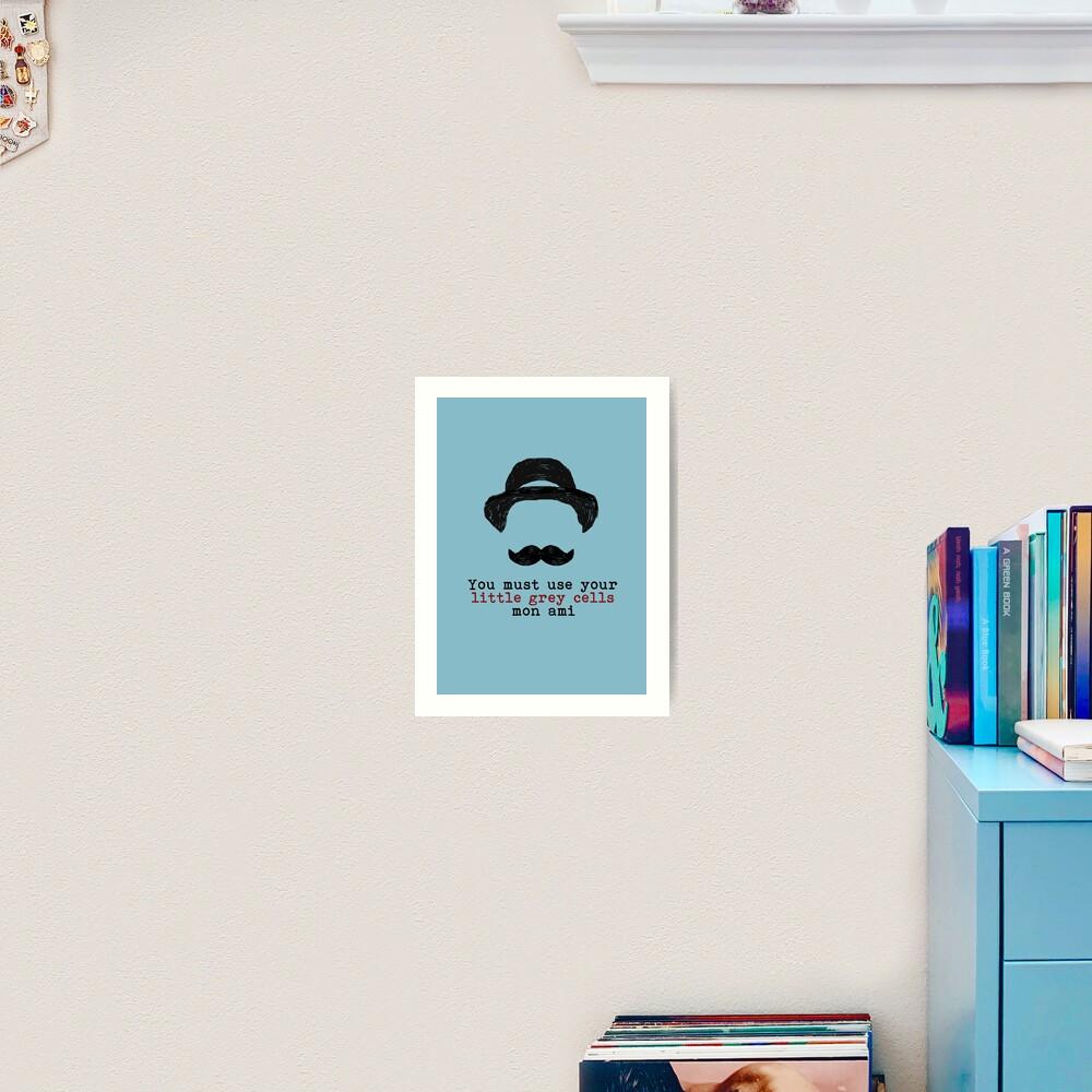 Agatha Christie: Hercule Poirot - Little Grey Cells (Light Blue) Art Print