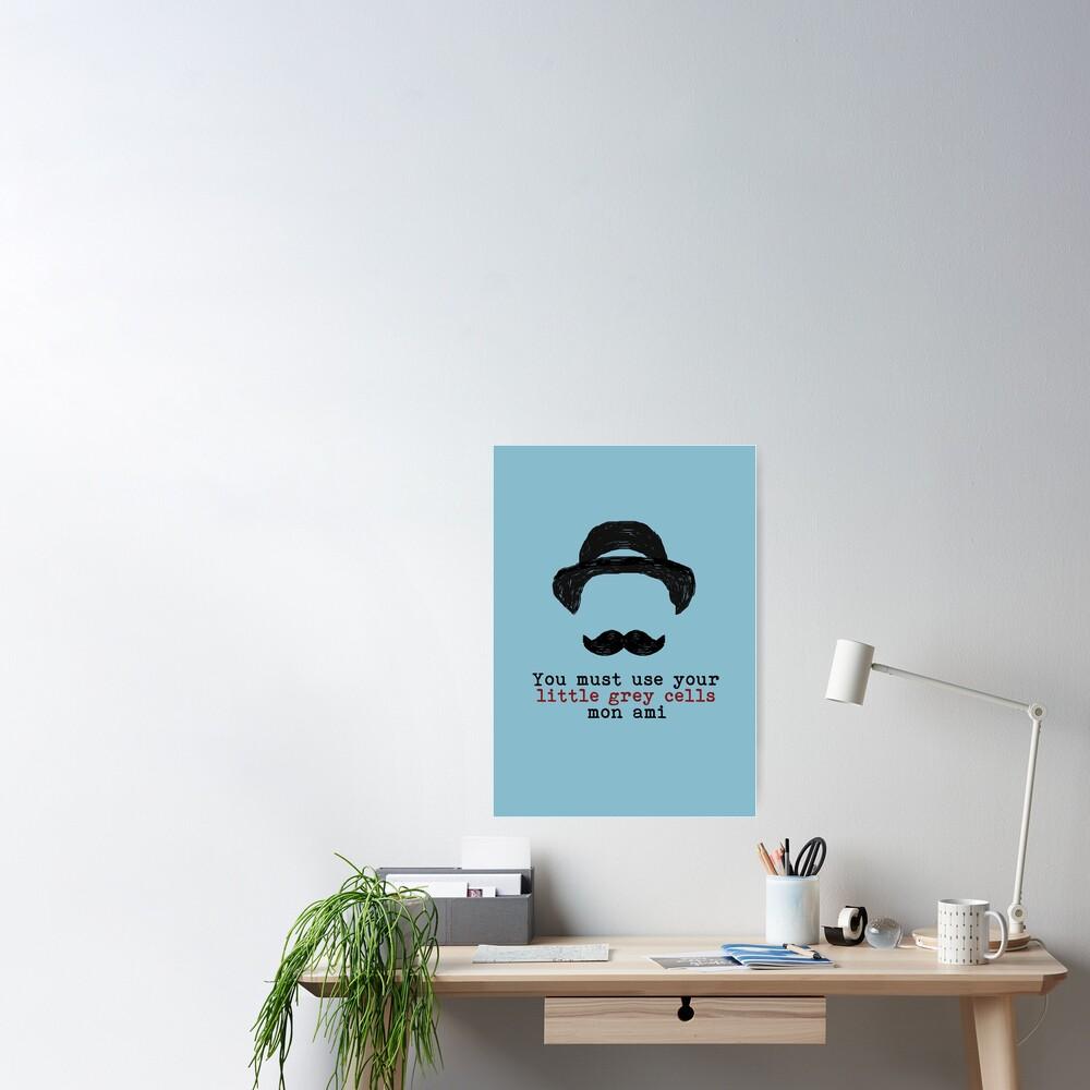 Agatha Christie: Hercule Poirot - Little Grey Cells (Light Blue) Poster