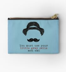 Agatha Christie: Hercule Poirot - Little Grey Cells (Light Blue) Studio Pouch