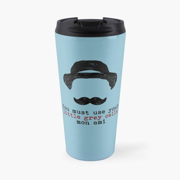 Agatha Christie: Hercule Poirot - Petites cellules grises (bleu clair) Mug isotherme