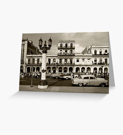 Old fashioned cars Greeting Card