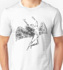 ICARUS THROWS THE HORNS - faded grey  ***FAV ICARUS GONE? SEE BELOW*** Unisex T-Shirt