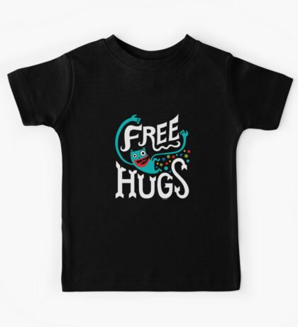 Free Hugs - on dark Kids Clothes
