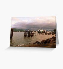 Wharf Greeting Card