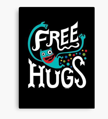Free Hugs - on dark Canvas Print