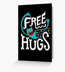 Free Hugs - on dark Greeting Card